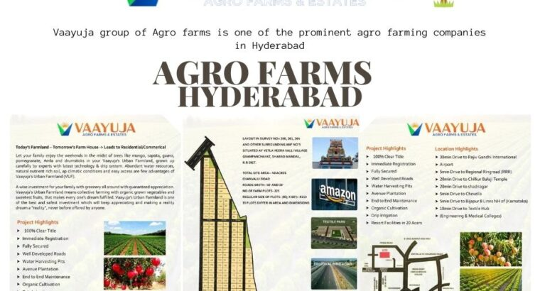 Vaayuja Agro farming companies in Hyderabad